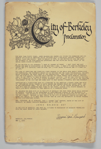 """City of Berkeley"" Proclamation"