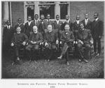 Students and faculty; Bishop Payne Divinity School; [Petersburg, Virginia], 1921