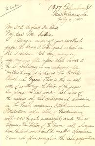 Letter from Maurice Rousséve to W. E. B. Du Bois