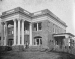Evolution of the Negro home; Residence of a Negro business man, insurance manager and proprietor of barber shops; Now building and said to be the finest Negro residence in the South; It will have electric bells and lights, fireplaces, steam - heat; roof - garden; and 15 rooms