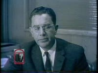 """WSB-TV newsfilm clip of governor Ernest Vandiver and mayor William B. Hartsfield responding to the full-page advertisement """"An Appeal for Human Rights"""" published in newspapers by a student civil rights group in Atlanta, Georgia, 1960 March 9"""