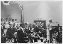 [Little Rock Nine students and others listen to Daisy Bates at the Local 6 Civil Rights Award Ceremony, New York, New York, 1958]