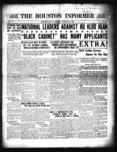 The Houston Informer (Houston, Tex.), Vol. 2, No. 43, Ed. 1 Saturday, March 12, 1921
