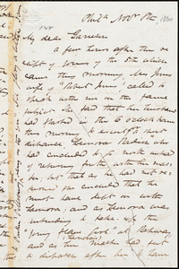 Letter from James Miller M'Kim, Phil[adelphi]a, [Pa.[, to William Lloyd Garrison, Nov[ember] 8th [1860]