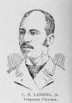 Officers of the League; C. H. Lansing, Jr., Temporary Chairman