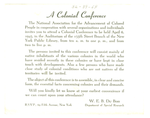 Invitation from NAACP to unidentified correspondent