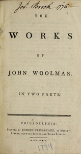 The works of John Woolman : in two parts