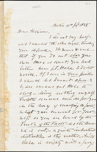 Letter from Theodore Parker, Boston, [Massachusetts], to Thomas Wentworth Higginson, 1855 July 17