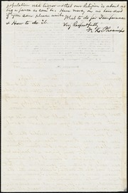 Letter to] Honored Sir [manuscript