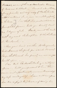 Fragment of a letter from S. Alfred Steinthal, [Bridgewater, England?], to Samuel May
