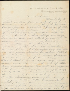 Letter from Deborah Weston, New Bedford, [Mass.], to Caroline Weston, Jan. 2, 1840, Thursday morning