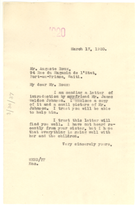 Letter from W. E. B. Du Bois to Auguste Roux