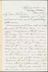 Letter from Samuel Joseph May, Syracuse, [N.Y.], to William Lloyd Garrison, March 6 [1866]