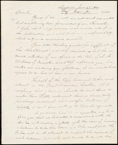Letter from Benjamin Drew, Andover, to Amos Augustus Phelps, June 25, 1839