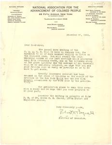 Circular letter from Robert Bagnall to W. E. B. Du Bois