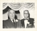 Richard J. Daley with an African American man
