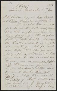 John Brown letter (copy) to Franklin Benjamin Sanborn, Lawrence, Kansas, 28 June 1858