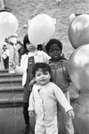 Students with balloons, Los Angeles, 1983