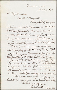 Letter from Gerrit Smith, Peterboro, [N.Y.], to William Lloyd Garrison, Oct[ober] 14 1873