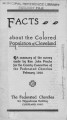 Facts about the colored population 1924