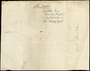 Brief notes by Caroline Weston] [manuscript
