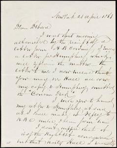 Letter from Richard Warren Weston, New York, to Deborah Weston, 21 April 1863