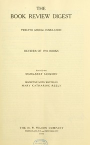 Book review digest, 1916 v.12