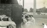 View of the Toledo Mudhens dugout at Swayne Field