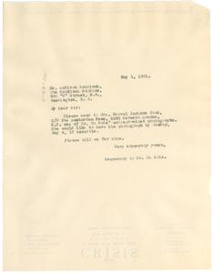 Letter from undisclosed correspondent to Scurlock Studios