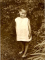 Unidentified young girl outdoors