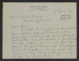 General Correspondence of the Director, July 10-31, 1908