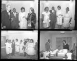 Set of negatives by Clinton Wright of Thelma's wedding, 1964