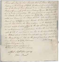 Bill of sale from John Mory to David Stoddard Greenough for Dick (a slave), 30 July 1785