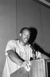 Keenan Ivory Wayans speaking at a Black Women's Forum event, Los Angeles, 1991