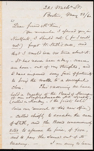 Letter from Samuel May, Jr., 221 Wash[ington] St., Boston [Mass.], to James Miller M'Kim, May 23 / [18]60