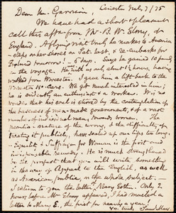 Letter from Samuel May, Jr., Leicester, [Mass.], to William Lloyd Garrison, July 7 / [18]75