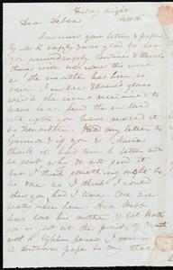 Letter from Anne Warren Weston to Deborah Weston, Friday night, Nov. 16, [1838?]