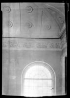 Closeup of ceiling fresco, Baptist church, Beaufort