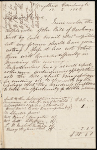 Letter from Eliza Wigham, Edinburgh, to Samuel May, 12.2.1862
