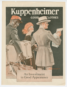 Advertisement from the Saturday Evening Post featuring a Pullman Porter