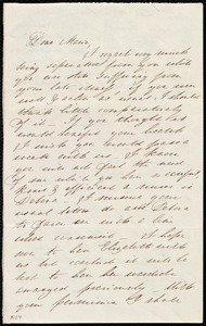 Letter from Mary Gray Chapman to Maria Weston Chapman, [1838?]