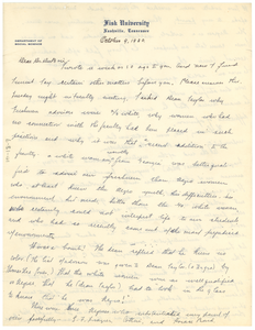 Letter from Mabel Byrd to W. E. B. Du Bois