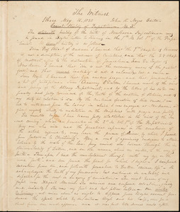 Letter from John Humphrey Noyes, Ithaca, [New York], to William Lloyd Garrison, 1838 May 16