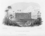 Castle and salt lake at Tegerhy