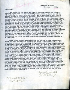 Circular letter from G. T. McElderry
