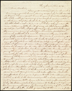 Letter from Evelina A. S. Smith, Hingham, [Mass.], to Caroline Weston, Dec. 12, [18]41