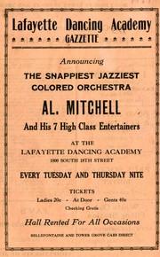"Circular: ""Lafayette Dancing Academy Gazzette,"" [1927?]"