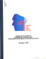 Global evaluation of affirmative action in the Wisconsin Department of Transportation (Nov. 1998)