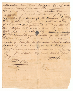 Deed of transfer of enslaved persons from the estate of Richard Rouzee