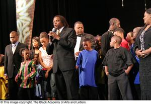 Curtis King On-Stage with Participants Hip Hop Broadway: The Musical